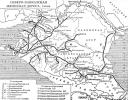 карта железных дорог Северного Кавказа